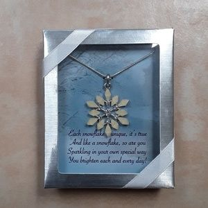Brand new in the box snowflake necklace